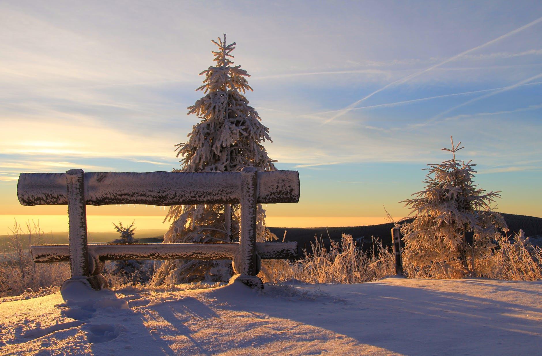 sunrise bank fichtelberg ore mountains