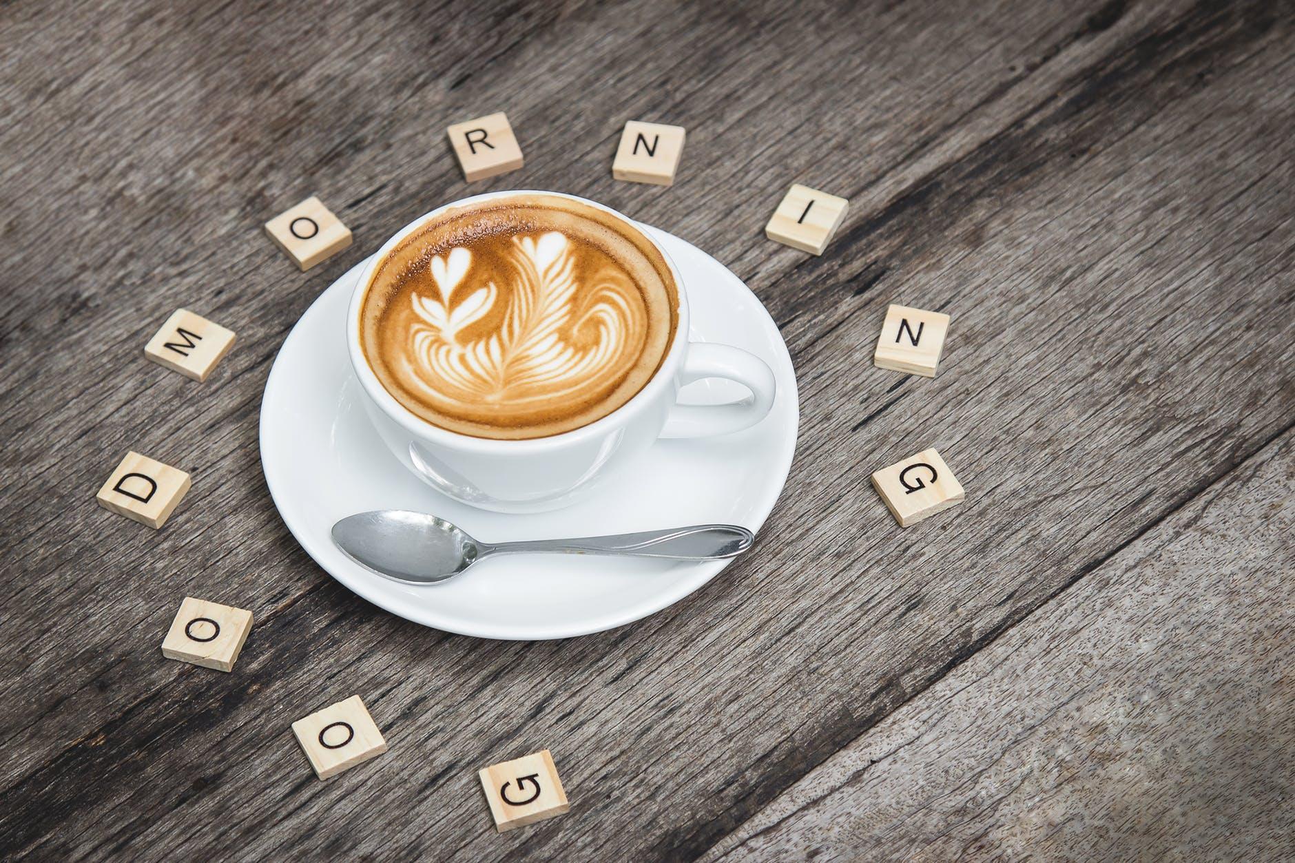 cafe caffeine cappuccino close up